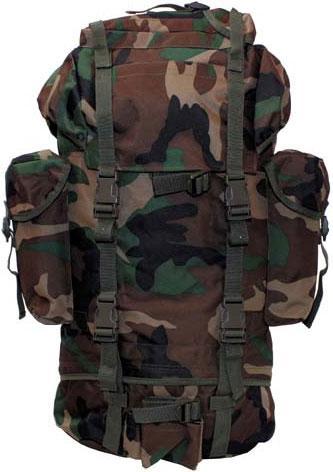 Армейский рюкзак 65л лесной камуфляж MFH 30253T