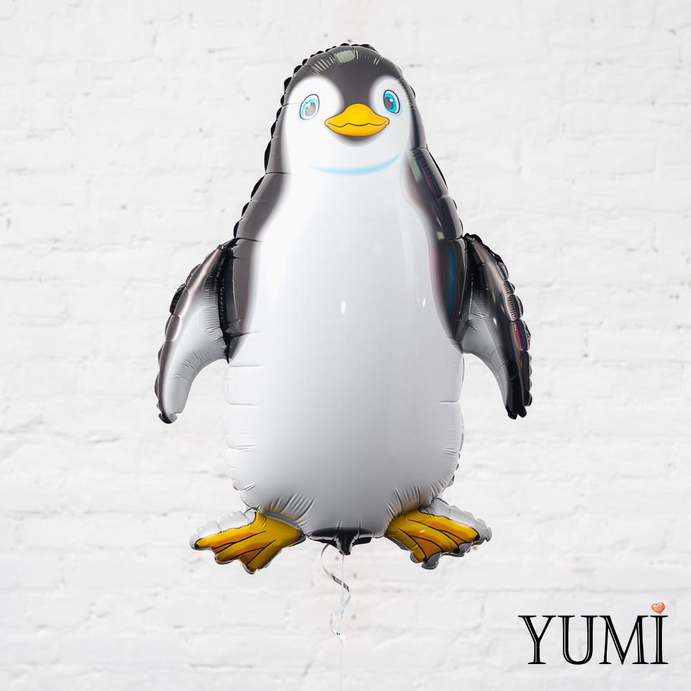 Воздушный фольгированный шарик Пингвин чёрный
