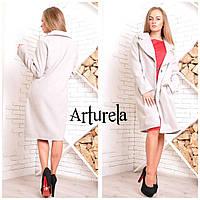 Пальто женское кашемировое Катя. Светло-серый