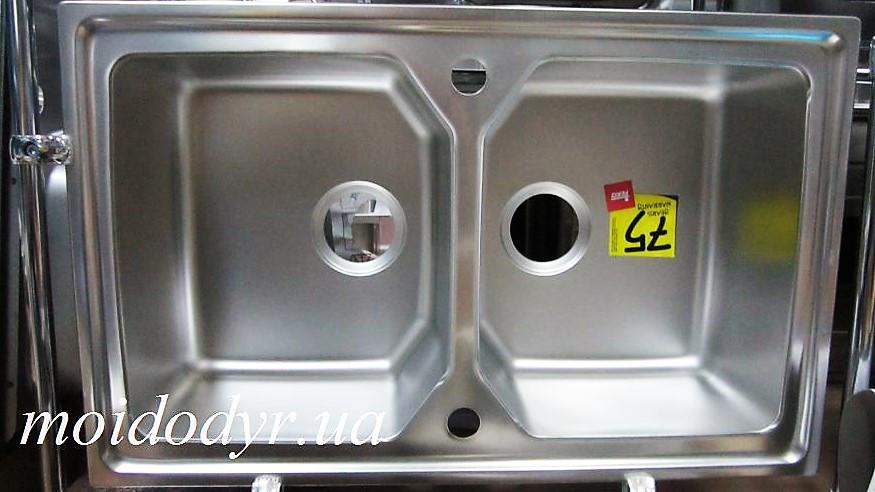 Мойка кухонная из нержавеющей стали Тека EXPRESSION 80B микродекор