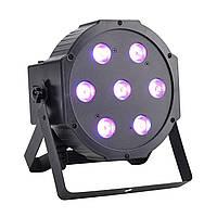 Лампа 3in1 Led par 7x10 RGBW Светомузыка, световое оформление интерьера