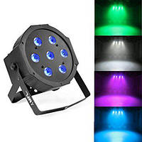 Светодиодный multicolor 3in1 Led par 7x10 RGBW Светомузыка, диско свет, освещение помещений