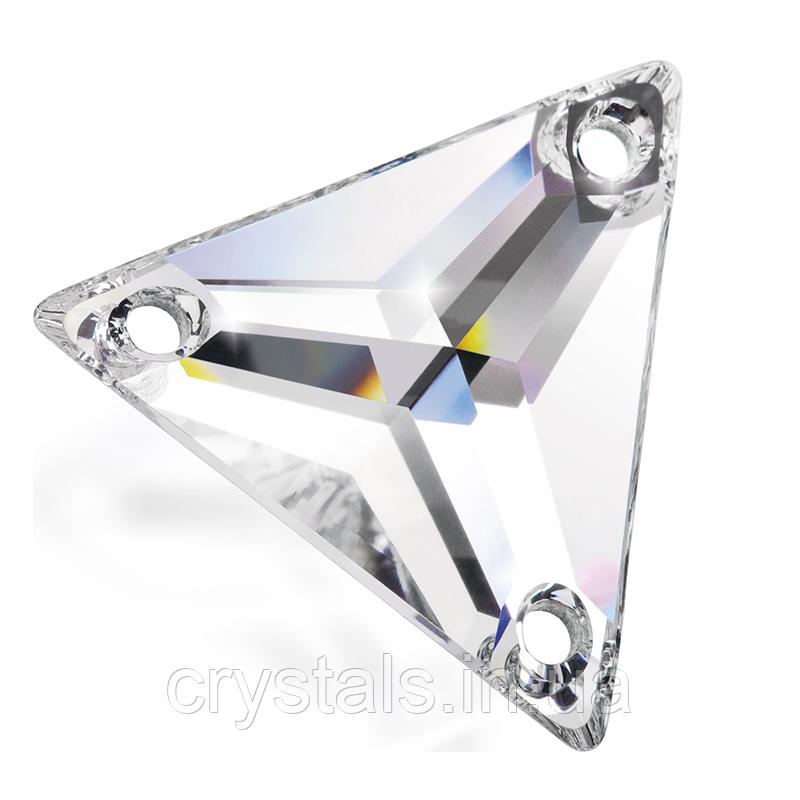 Пришивные хрустальные треугольники Preciosa (Чехия) 16 мм Crystal