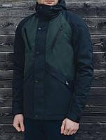 Весенне-осенняя куртка Staff - V navy and green Art. hab0011 (Размеры - XL)