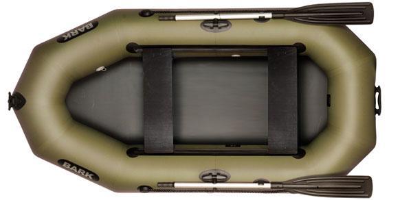 Лодка BARK B-240D, Двухместная Надувная ПВХ Гребная Резиновая Барк Б-240Д, Передвижные сиденья, Без коврика