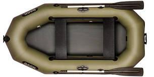 Лодка BARK B-240D, Двухместная Надувная ПВХ Гребная Резиновая Барк Б-240Д, Передвижные сиденья, Без коврика, фото 2