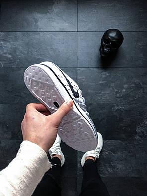 Кроссовки Nike Flyknit Trainer White Black White топ реплика, фото 2