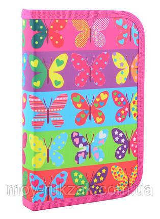 "Пенал твёрдый одинарный ""Butterfly"" 1 Вересня Smart 531654, фото 2"