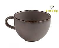 Чашка Сappuccino Fortuna - 300 мл, Серая (Merxteam) керамика