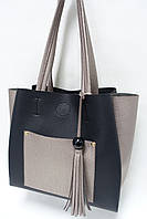 Женская сумка из экокожи Valetta Studio 1475 black/pearl gold