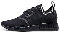 Мужские кроссовки Adidas NMD R1 Primeknit Japan Black Адидас НМД черные