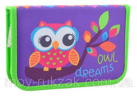 """Пенал твёрдый одинарный """"Owl"""" 1 Вересня Smart 531658, фото 2"""