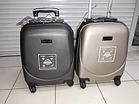 Маленький 4-х колесный чемодан для ручной клади  качественные и милые по низкой цене цвет графит