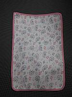 Непромокаемая двухсторонняя пеленка-подстилка(розовая)