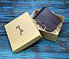 Кожаный кошелек с зажимом для денег и отделением для мелочи (281023) - шоколадный