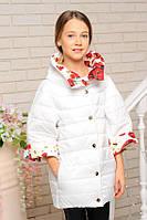 Двусторонняя демисезонная куртка весна-осень для девочки 38, 40, 44, 46 р.Детская верхня одежда