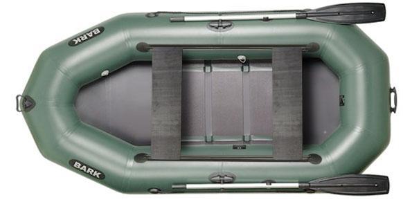 Лодка BARK B-280D, Трёхместная Надувная ПВХ Барк Б-280Д Реечный коврик, Передвижные сиденья