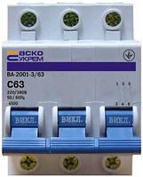 Автоматический выключатель 3п 63А  АСКО