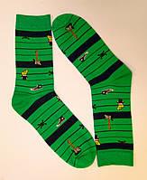 Яркие высокие хлопковые носки