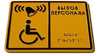 Таблички для слепых со шрифтом Брайля