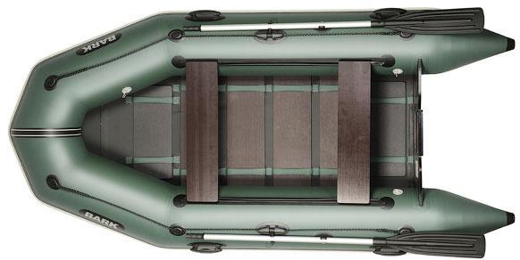 Лодка BARK BT-310D Трёхместная Надувная Моторная ПВХ Резиновая Барк БТ-310Д Реечный коврик Передвижные сиденья