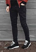 Мужские черные джинсы Staff N skinny stretch black SNT0007