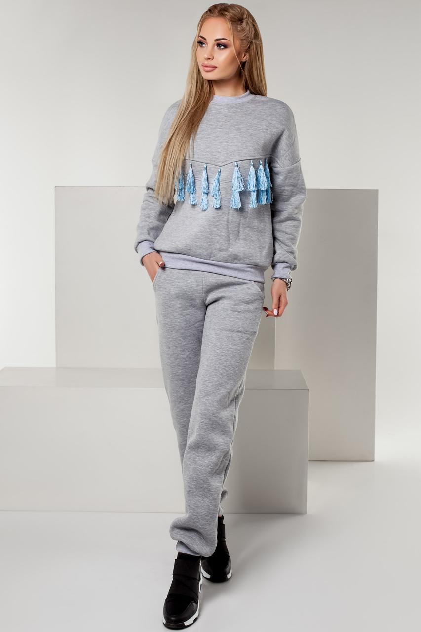 7ecbe4a88c3c6 Купить Спортивный костюм женский серый Новинку (2 цвета) FL/-1140/18 ...