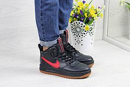 Жіночі кросівки Nike Lunar Force (сині з червоним), ТОП-репліка