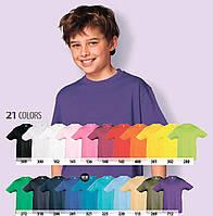 Футболки детские для мальчиков SOL'S REGENT KIDS Франция 21 цвет 100% полугребной Ringspun хлопок