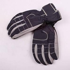 Женские перчатки лыжные на флисе серого цвета PZ-03-17-1