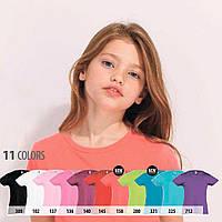 Футболки детские для девочек SOL'S MISS KIDS Франция 11 цветов 100% полугребной Ringspun хлопок