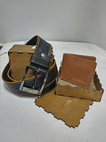 Подарочный набор для мужчин Bag-of-Dream BD02.03 (кошелек,ремень)