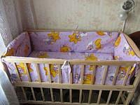Комплект постельного белья в детскую кроватку 4 в 1 (без балдахина) фиолетовый