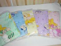 Комплект сменного постельного белья для детской кроватки 3 в 1 на резинке, бязь