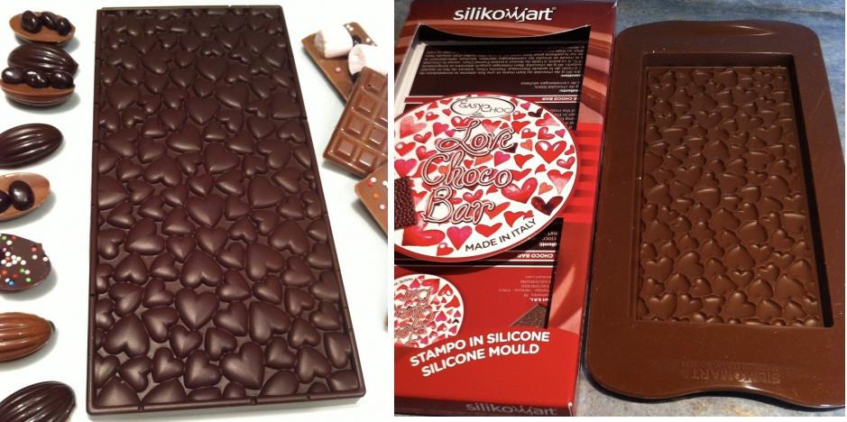 Силиконовая форма для шоколад Silikomart сердечки Италия -06271