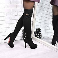 Сапоги женские ботфорты VesstyGold  4198 деми, фото 1
