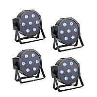 Светодиодный прожектор LED Par 7x10 DMX Светомузыка, заливочный концертный свет