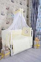 Комплект детского постельного белья Bepino Жаккард Мишка со звездочкой