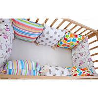 Комплект мягких бортиков-подушек в детскую кроватку