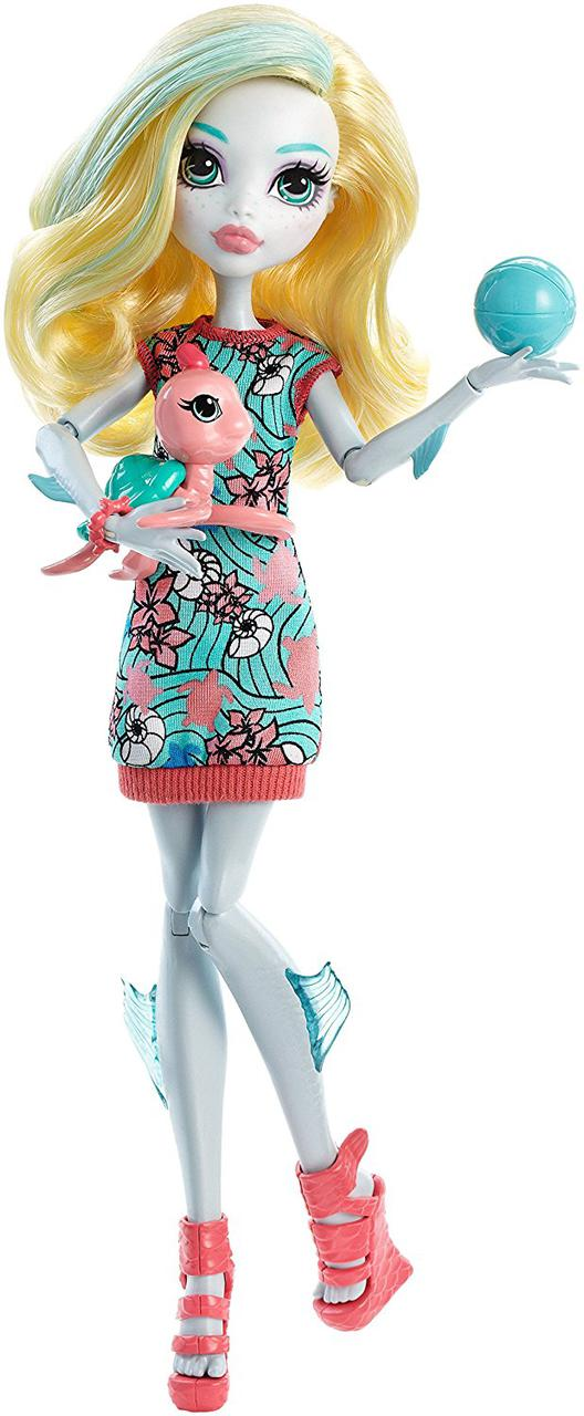 Кукла Монстер Хай Лагуна Блю c питомцем Monster High Ghoul's Beast Pet Lagoona Blue