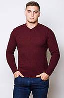 Мужской свитер. Код-208- бордо, беж, молоко.