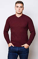 Мужской стильный свитер . Цвет- бордо  (46-48)