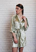 Шикарный велюровый женский халат