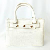 Кожаная сумка celine , белая классика, сумка шопер, сумка кросс-боди