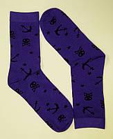 Высокие цветные носки с рисунком пираты
