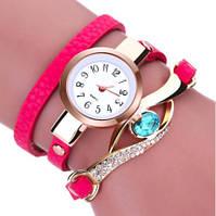 Модные женские часы с красным браслетом (ч-22)