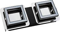 Світильник потолочний декор. 120x280mm SMD LED 2*5W 4000K  хром 2x300lm 220-240v