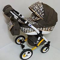 Детская коляска универсальная 2 в 1 Adamex Gloria City Brown
