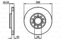 Тормозной диск передний Audi A6(4A,C4)(1994-1997) Bosch(0986479157)