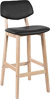Деревянный полубарный стул Тренто Кожзам (Trento PU), H-65см